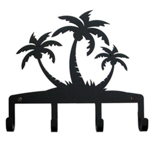 Village Wrought Iron KH-139 Triple Palm Trees - Key Holder