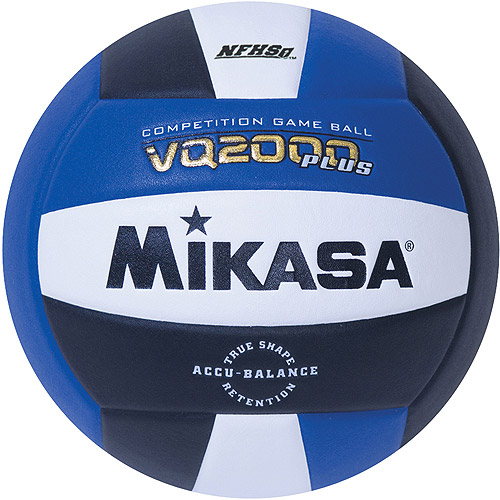 Mikasa VQ2000 Micro-Cell Indoor Volleyball, Royal/Black/White