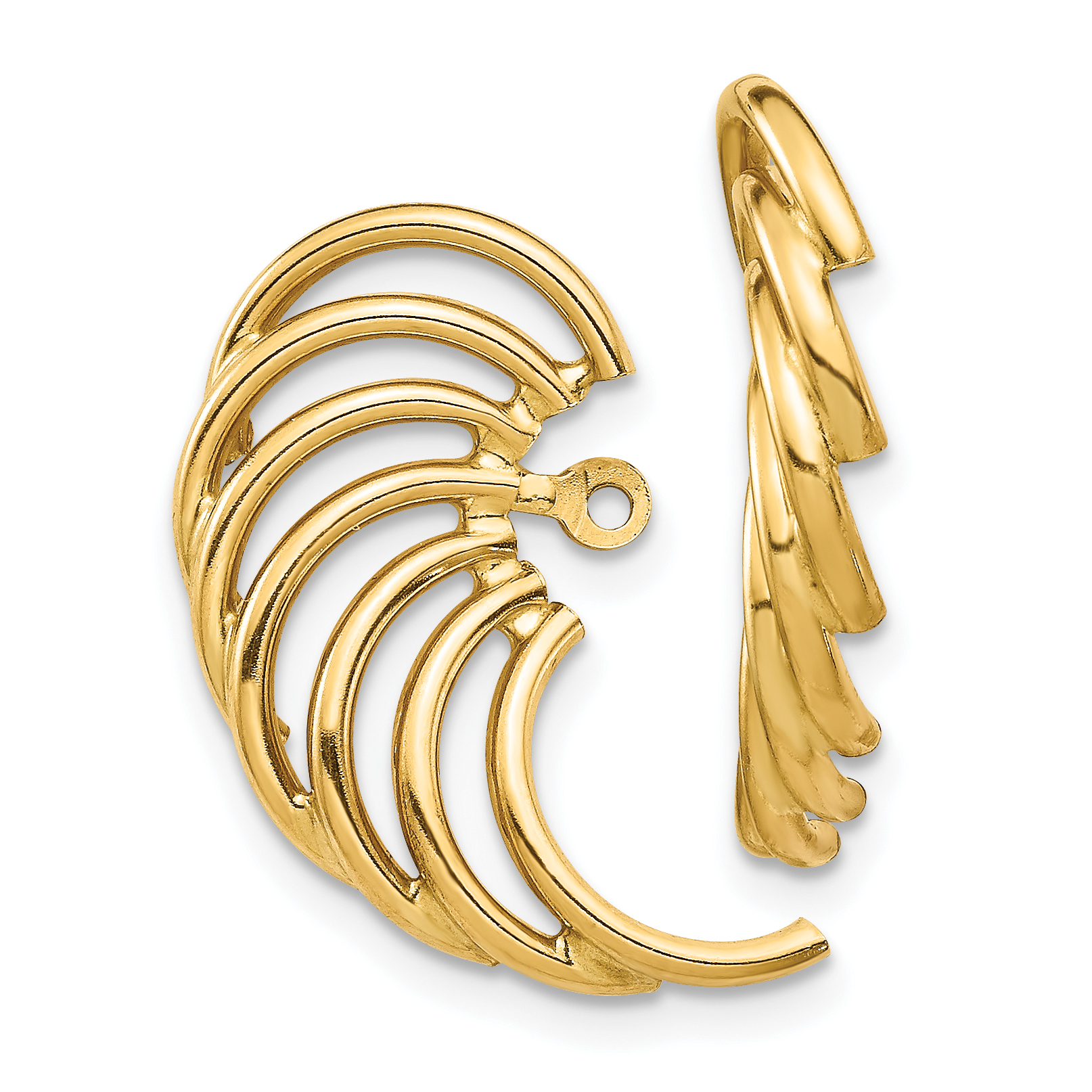 14k Polished Swirl Shaped TH221