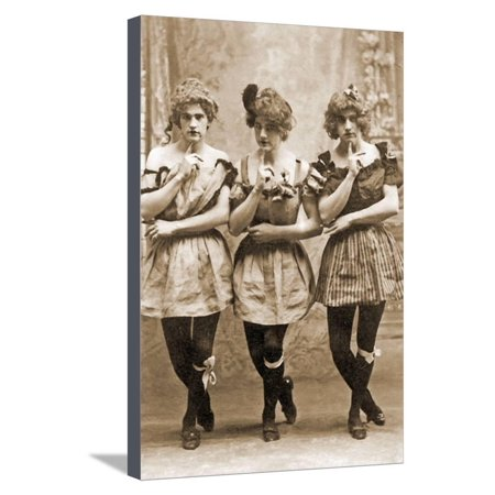 Yale Students in Drag, C.1883 Stretched Canvas Print Wall Art