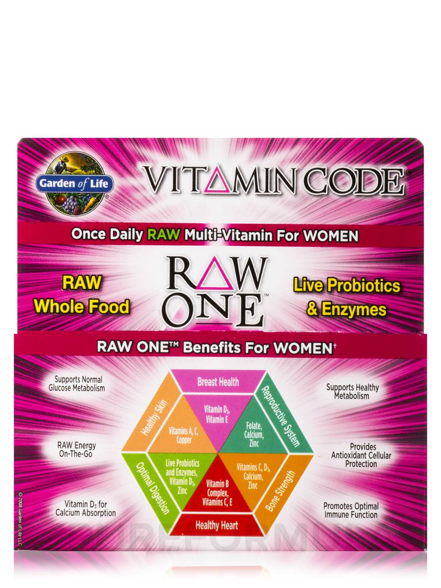 Garden of Life Vitamin Code Raw One Women Walmartcom