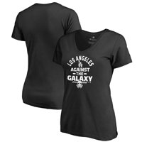 Los Angeles Dodgers Fanatics Branded Women's MLB Star Wars Against The Galaxy V-Neck T-Shirt - Black