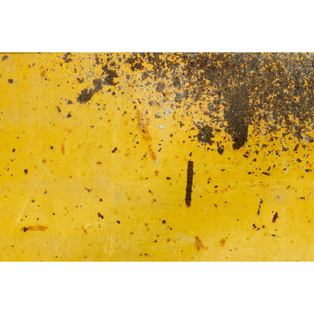 LAMINATED POSTER Steel Brown Metal Wall Rusty Yellow Abstract Poster Print 24 x 36