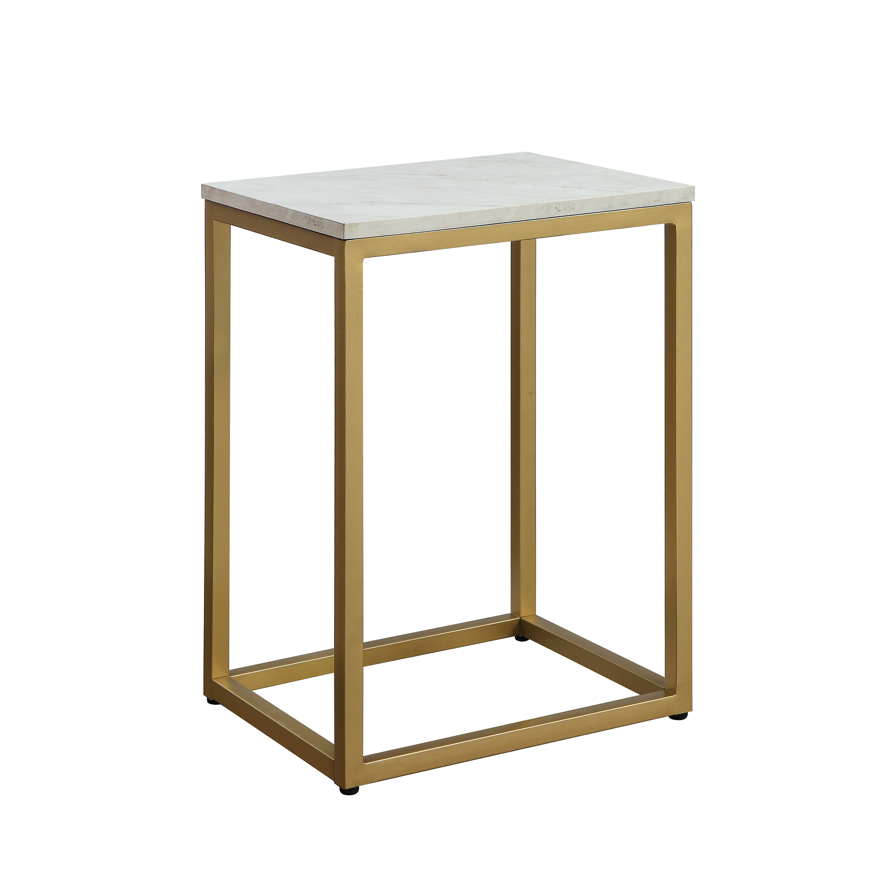 Mainstays End Table with Space-saving design and durable metal frame, Multiple Finishes