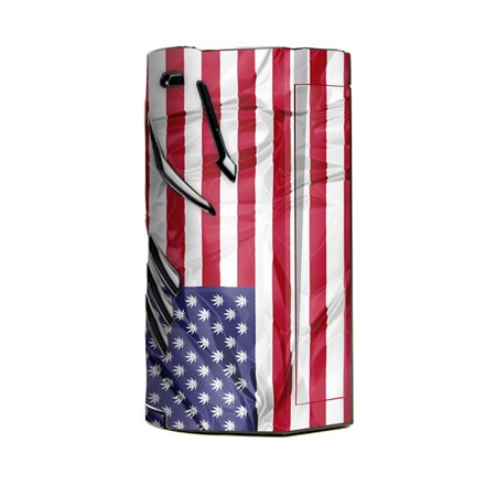 Skin Decal Vinyl Wrap For Smok T Priv 3 Kit 300W Tc Vape Skins Stickers Cover   American Flag Pot Leaf Stars Marijuana