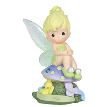 Tinkerbell Figurine (Precious Moments, Disney Showcase Collection, May Fairy As Tinker Bell, Resin Figurine, Emerald, 113212 )