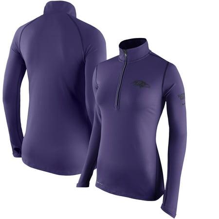 Baltimore Ravens Nike Women's Tailgate Element Half-Zip Performance Jacket - Purple ()