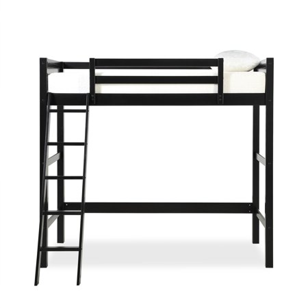 Your Zone Collection Twin Pine Wood Loft Bed Wooden Bed