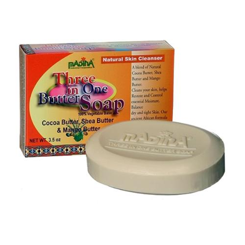 Madina Three in One Butter Soap, 3.5 oz (Pack of 2)