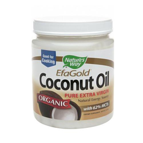 Natures Way Efagold Pure Extra Virgin Coconut Oil - 32 Oz, 3 Pack