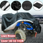 """Black Waterproof Riding Lawn Mower Tractor Storage Cover Protecter Outdoor 55.1x26.0x35.8"""""""