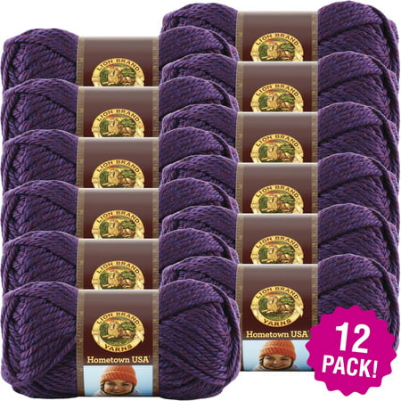 Lion Brand Hometown USA Yarn - Portland Wine, Multipack of (Best Red Wine Brands In Usa)