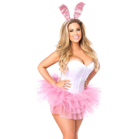 Innocent Bunny Corset Costume, Sexy Bunny Costume (Bugs Bunny And Daffy Duck Halloween)