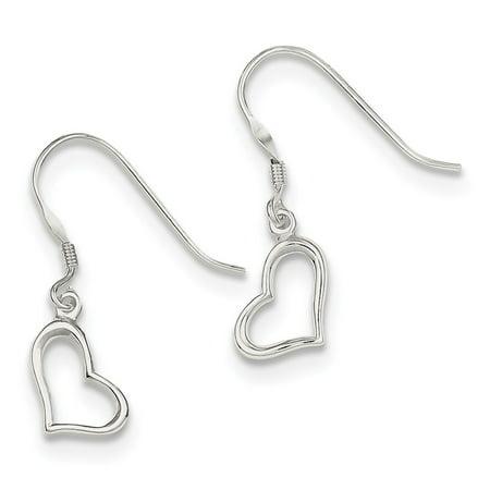 925 Sterling Silver Heart Dangle - Mrs Earrings