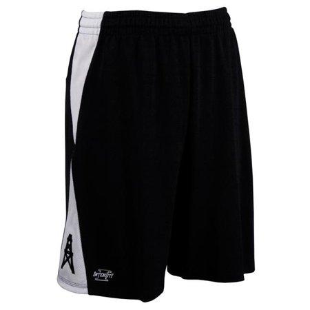 intensity diamond flatback mesh basketball shorts, black/white, large
