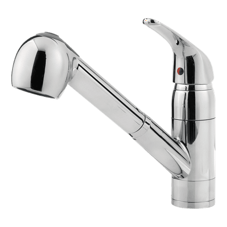 Pfister Pfirst Series 1-Handle Pull-Out Kitchen Faucet in Polished Chrome