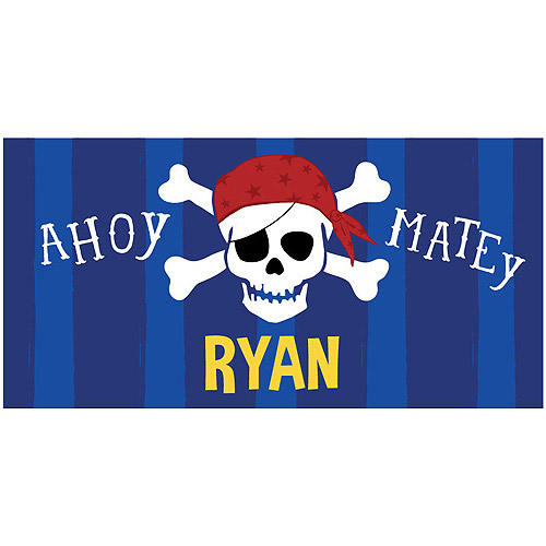 Personalized Ahoy Matey Beach Towel