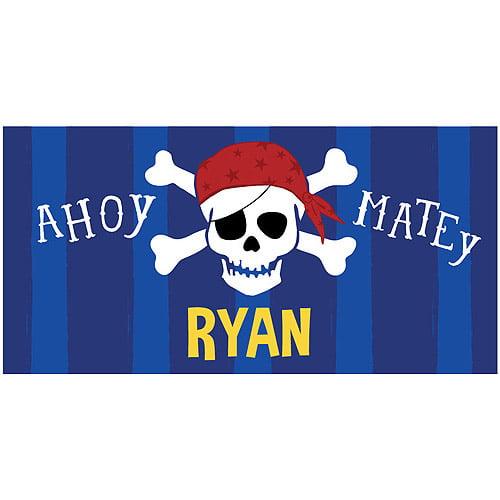 Personalized Pirate Kids Beach Towel