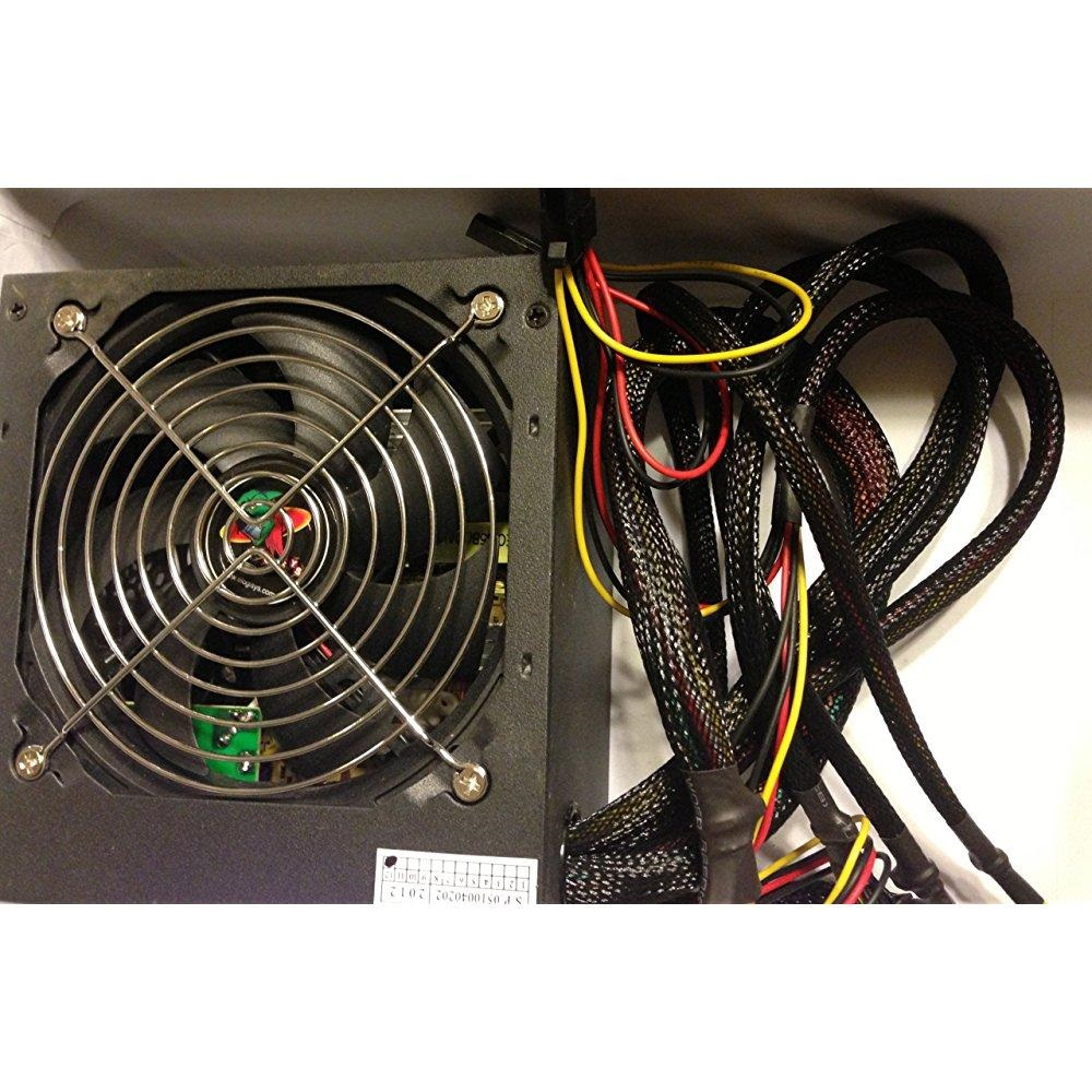 Logisys Corp. 550W 120mm Ball Bearing Fan with PSU ATX 550 Power Supply PS550E12BK, Black