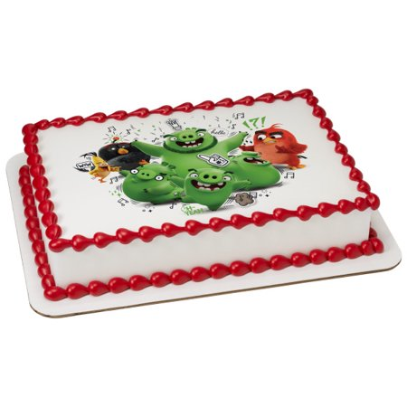 Angry Birds Jiggly Piggly 1/4 Sheet Image Cake Topper Edible Birthday Party