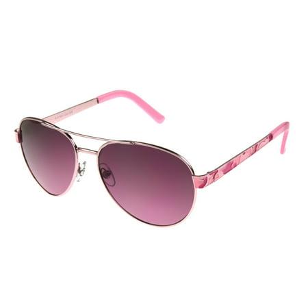 Foster Grant Women's Pink Aviator Sunglasses (Personalized Aviator Sunglasses)