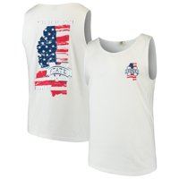 Mississippi State Bulldogs Americana Comfort Colors Tank Top - White