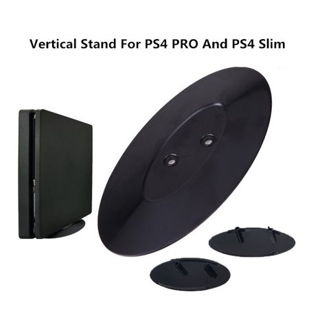 2-in-1 Portable Vertical Stand for PS4 Slim and PS4 Pro Universal Video Gaming Accessories Black