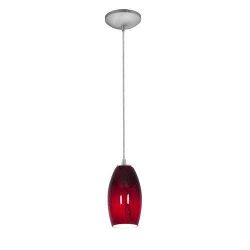 Access Lighting 28011-1C-BS Pendants Sydney Indoor Lighting ;Brushed Steel   Ruby Sky by Access Lighting