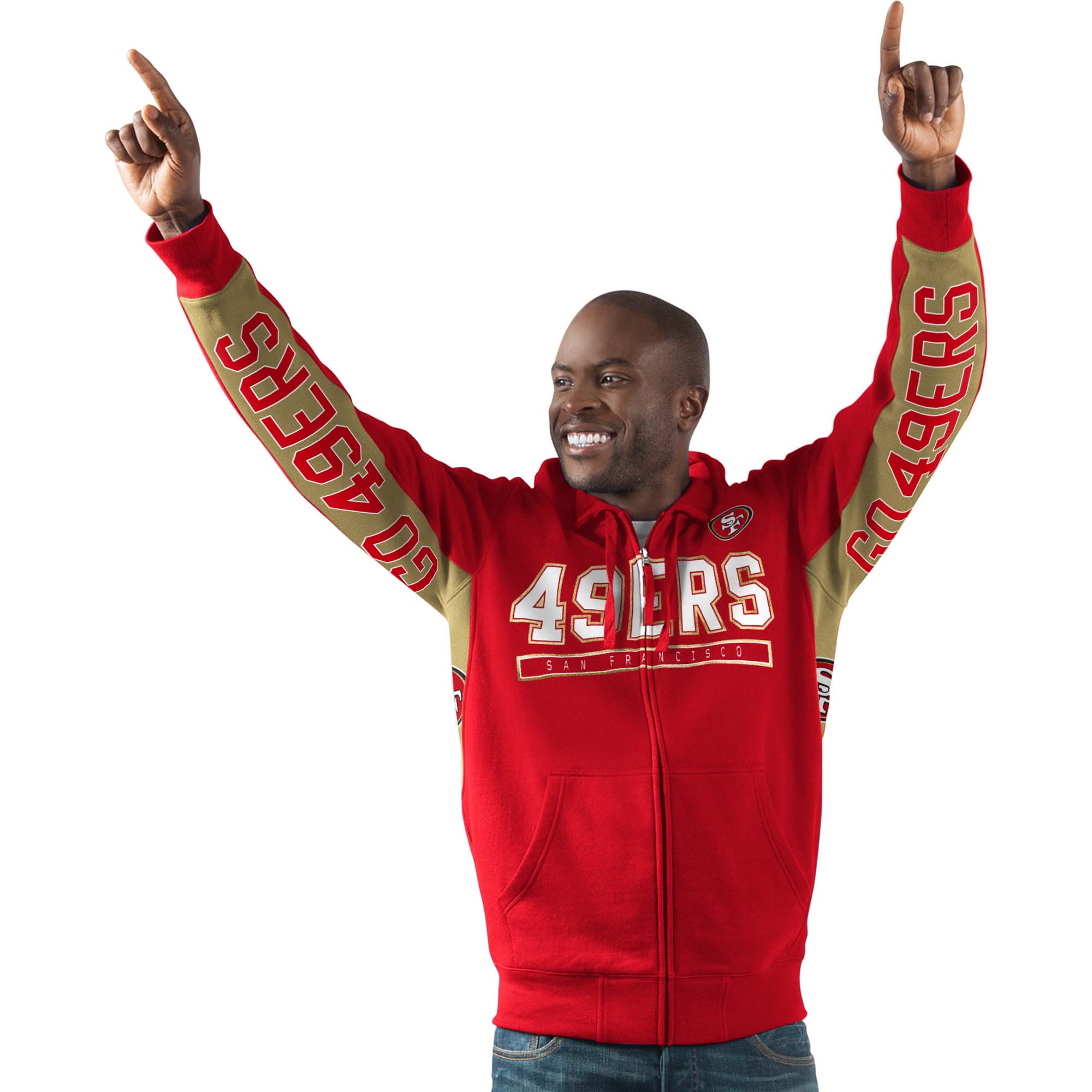 San Francisco 49ers G-III Sports by Carl Banks Hands High Blowout - Full-Zip Hoodie - Red