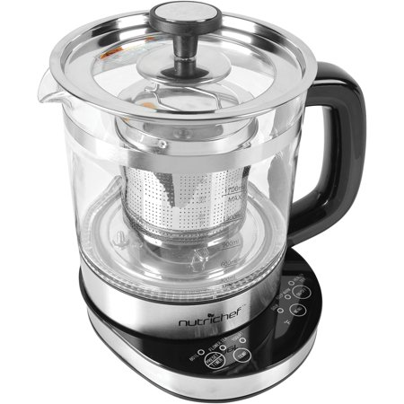 NutriChef AZPKTM15 Electric Glass Tea Kettle