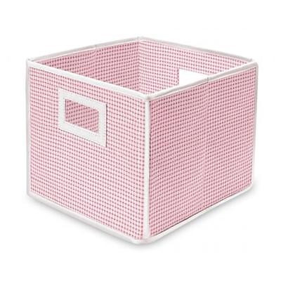 Badger Basket 00840 Folding Basket-Storage Cube Pink Gingham Home Organizers Istilo107240 by GSS