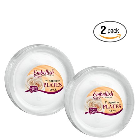 Hard plastic 7 Inch Clear Plates 20 Count ()