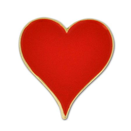 Red Heart Lapel Pin (Playing Cards Red Hearts Suit Enamel Lapel Pin )