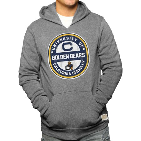 Cal Golden Bears Adult NCAA Ring And Logo Distressed Hooded Sweatshirt  - Gray