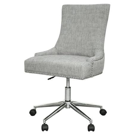Charlotte Swivel - Charlotte Fabric Office Chair, Wolf