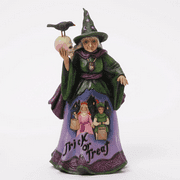 Jim Shore Halloween 4041137 Trick or Treat Witch Last One Retried