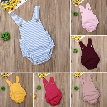 Newborn Baby Boy Girl Romper Bodysuit Sunsuit Summer Outfit Set Clothes