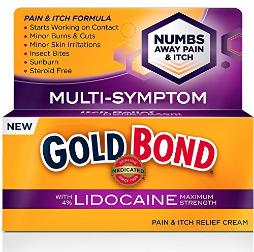 6 Pack Gold Bond Pain & Itch Formula Cream with Lidocaine 1.75 Oz Each