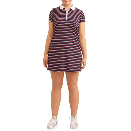Eye Candy - Juniors\' Plus Size Ribbed Polo Dress - Walmart.com