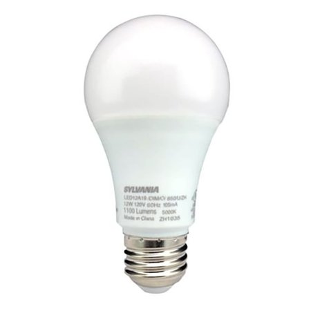 Sylvania A19 LED 75W Equivalent E26 Frosted Finish Cool White 5000K Light Bulb 10w Frosted White Socket