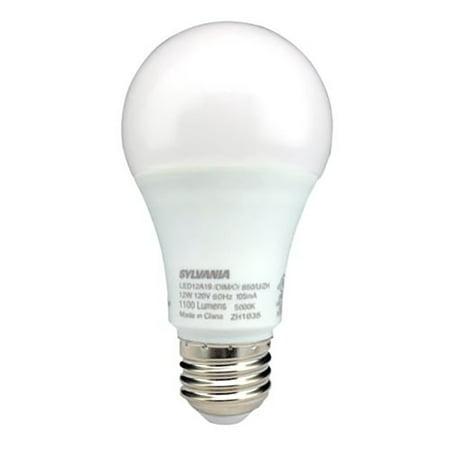 Sylvania Cool (Sylvania A19 LED 75W Equivalent E26 Frosted Finish Cool White 5000K Light Bulb)