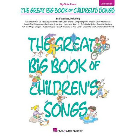 Big-Note Piano: The Great Big Book of Children's Songs (Paperback)](Halloween Song Piano)