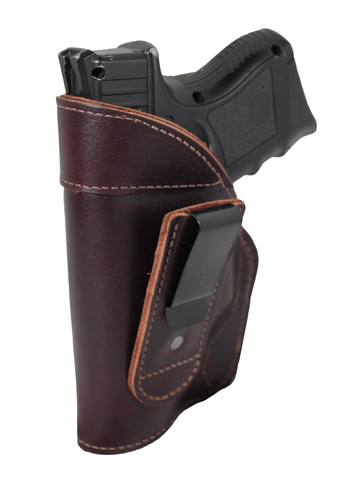 NEW Barsony Burgundy Leather IWB Gun Holster for Glock Compact 9mm 40 45