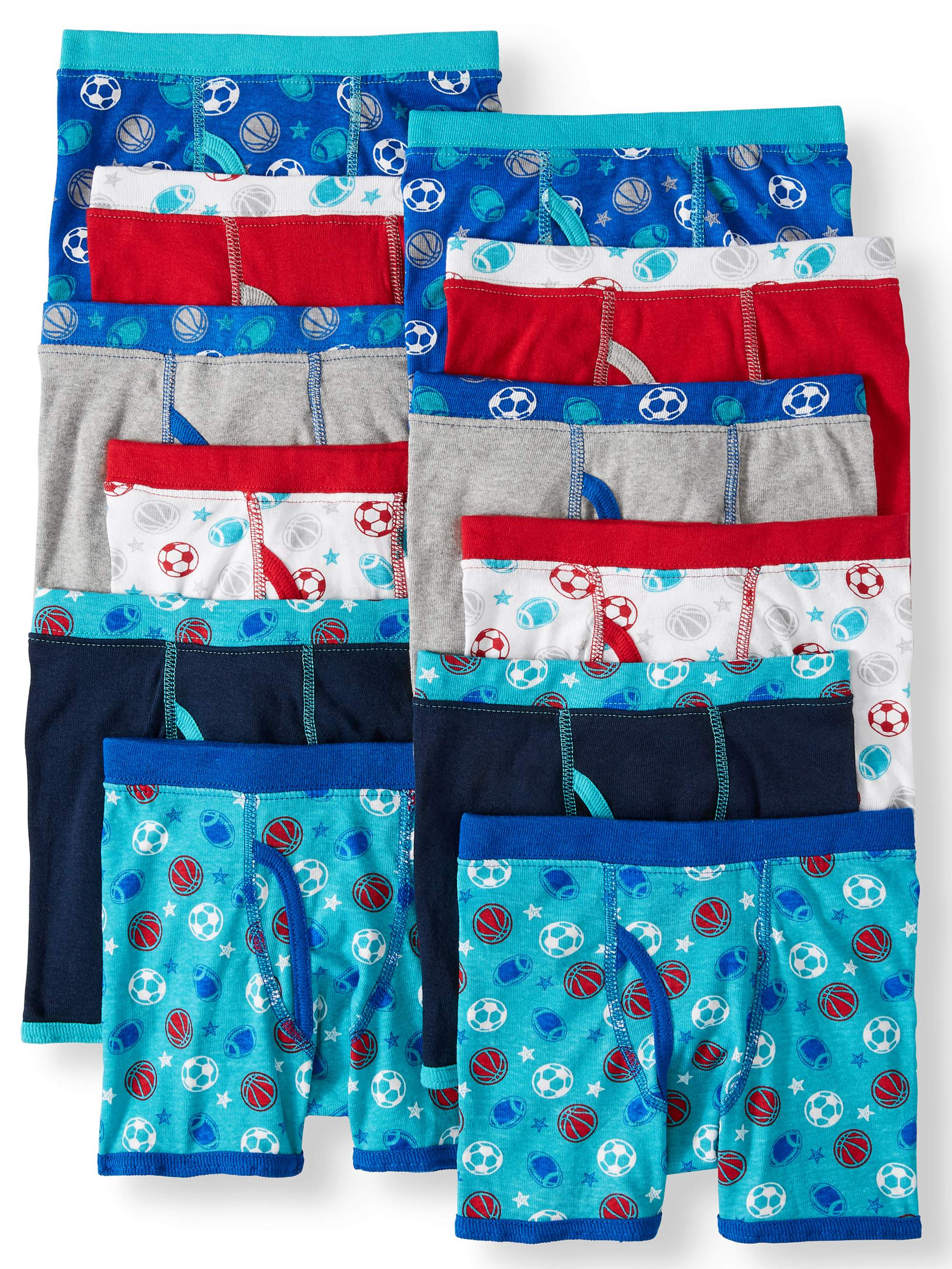 Wonder Nation 12pk Boxer Brief Covered Waistband (Toddler Boys)