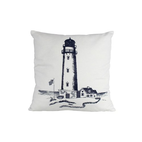 Click here to buy Handcrafted Nautical Decor Lighthouse Throw Pillow by Handcrafted Model Ships.