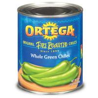 12 PACKS : Ortega, Whole Green Chiles, Original, Fire Roasted, 27oz Can