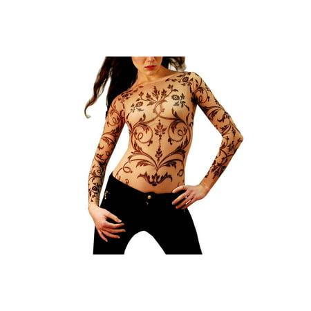 Filigree Hat Pin (Wild Rose Ladies FILIGREE Tattoo Mesh Shirt, Tan )