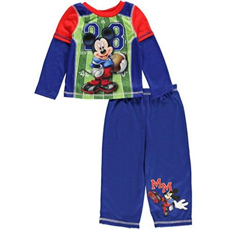 Mickey Mouse Football Long Sleeve Infant Pajama, Baby Boys Sizes - Football Baby
