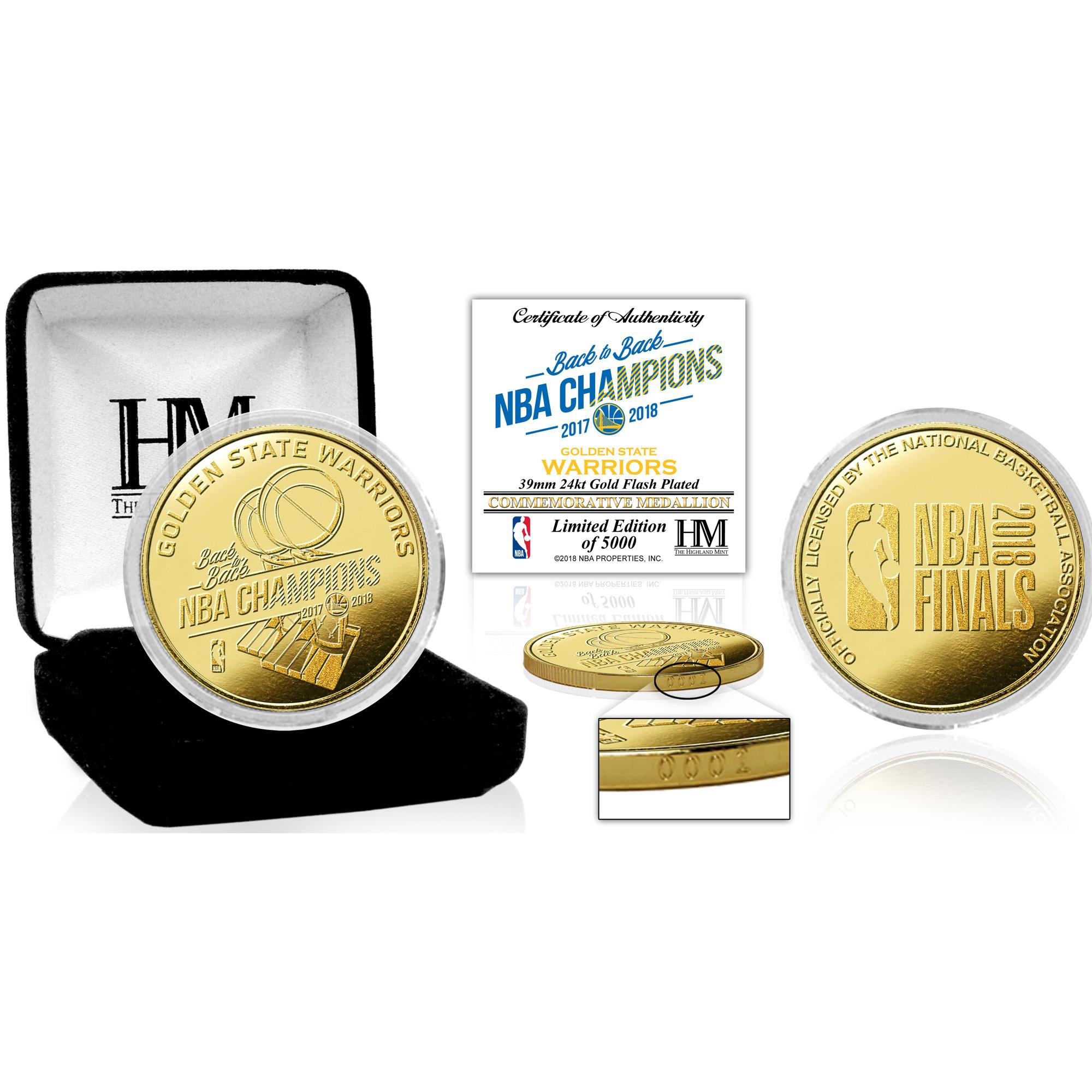 Golden State Warriors Highland Mint 2018 NBA Finals Champions Gold Coin - No Size