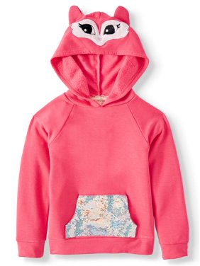 Btween Critter Costume Hoodie With Flip Sequin Pocket (Little Girls)